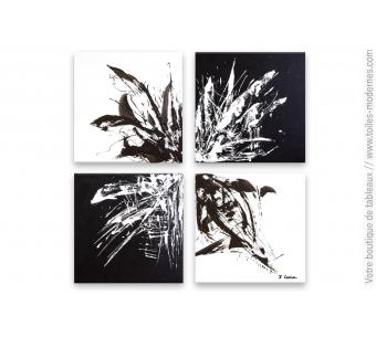 Tableau noir et blanc design : Homogénéité
