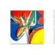 Grand tableau design coloré : Spectacle animé