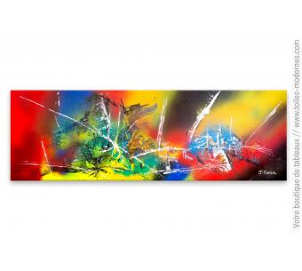 Tableau coloré contemporain : Bouleversement planétaire