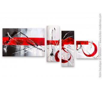 Décoration murale en rouge et noir moderne : Un endroit grisant