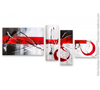 Quadriptyque rouge et noir : Un endroit grisant