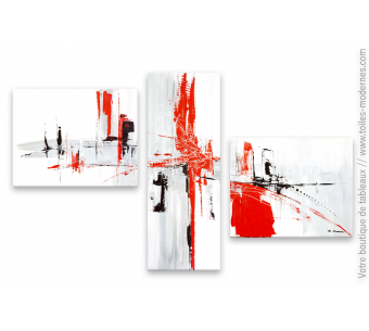 tableau triptyque blanc : Destination mystérieuse