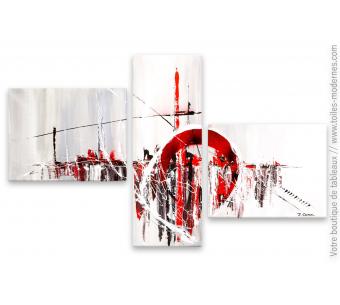 Tableau gris triptyque : Grisé par l'ambiance
