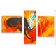Triptyque coloré thème  Corrida pour déco espagnole