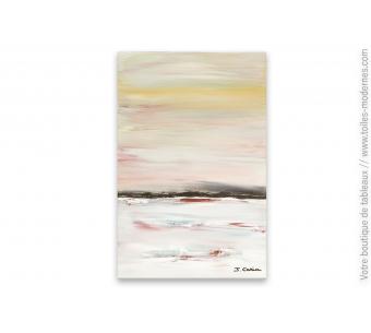 Peinture abstraite gris marron : Le silence de la mer