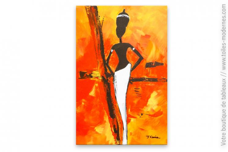 Tableau thème africain art moderne coloré