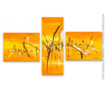 Peinture orange moderne : La soif de vivre