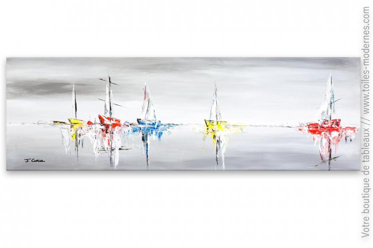 Tableau marine décoratif moderne : Bercés par l'écume vibrante