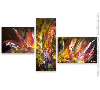 Tableau en plusieurs toiles, création unique : Tout feu, tout flamme