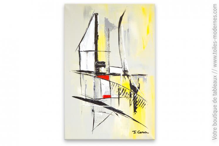 Abstraction géométrique, art moderne : La maison blanche