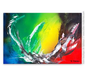 Peinture colorée moderne : La vie en couleur