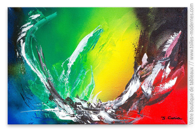 Décoration Murale Colorée Moderne : La Vie En Couleur; Tableau ...