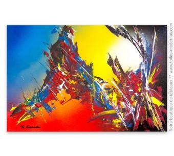 Peinture colorée moderne d'art abstrait : La magie des couleurs