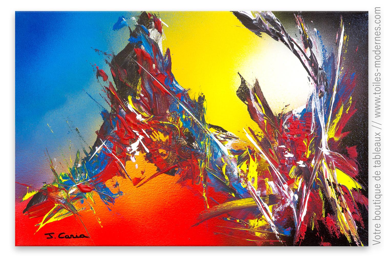Peintures Modernes Colorées création abstraite colorée : la magie des couleurs