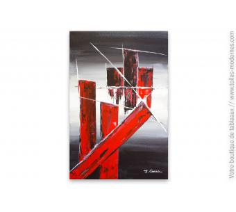 Tableau contemporain : La forteresse rouge et noire