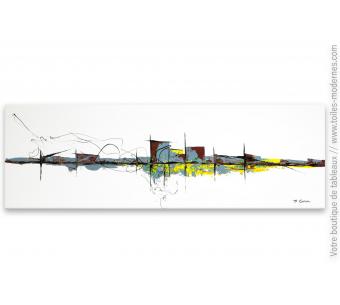 Déco design minimaiste avec un tableau moderne : Ville au grand jour