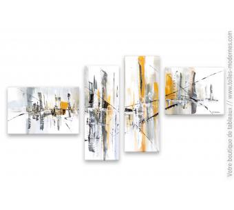 Déco marron et gris avec une grand tableau moderne : Atmosphère surnaturelle