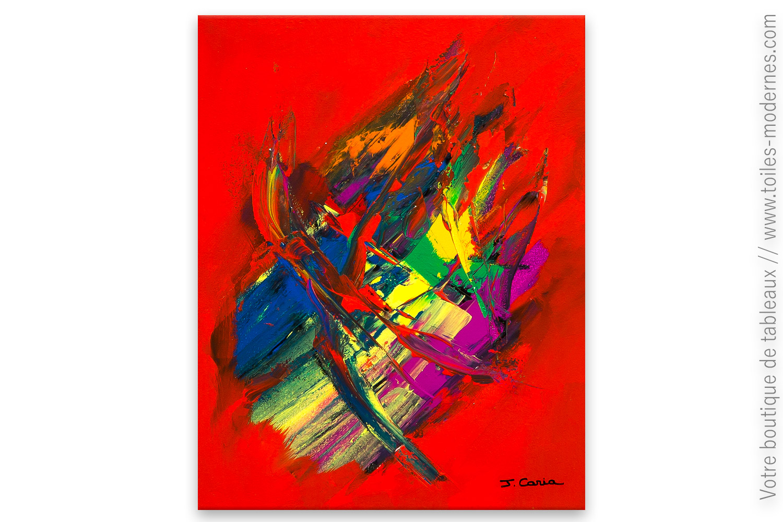 Tableau abstrait : Rêve coloré