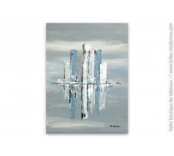 Grand tableau gris moderne : Nouvelle éclaircie