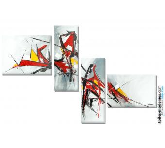 Tableau quadriptyque design : La vie idéale