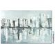 Grande décoration murale avec un tableau gris contemporain : Ville intemporelle