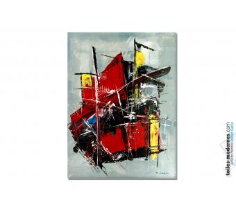 Tableau coloré moderne : Conquête