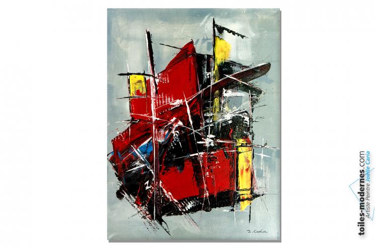Tableau coloré grand format pour déco murale tendance : Conquête