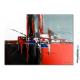 Déco en rouge et noir avec un tableau moderne : Nouveau souffle