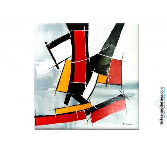 Déco murale formes géométriques tableau abstrait : Nouvelle attitude