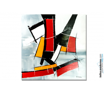 Grand tableau abstraction géométrique : Nouvelle attitude