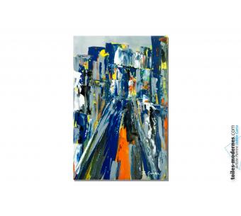 Tableau moderne : Ville bleue