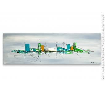 Tableau avec du bleu turquoise : Des vacances à la mer