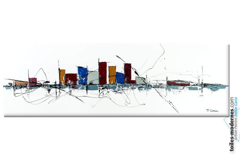 tableau blanc design dream of the city. Black Bedroom Furniture Sets. Home Design Ideas