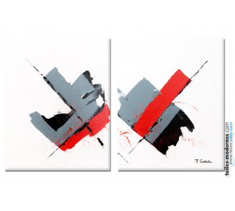 Déco blanche épurée style minimaliste, tableau design  : La voie de la lumière