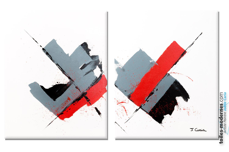 Tableau blanc diptyque la voie de la lumi re for Tableau minimaliste