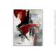 Déco design avec un tableau gris abstriat : Transfert