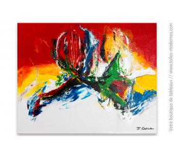 Peinture colorée sur toile moderne  : Une vie pigmentée