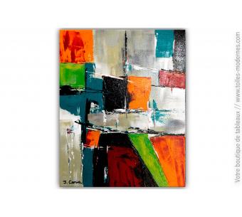Tableau multicolore moderne : Un royaume coloré