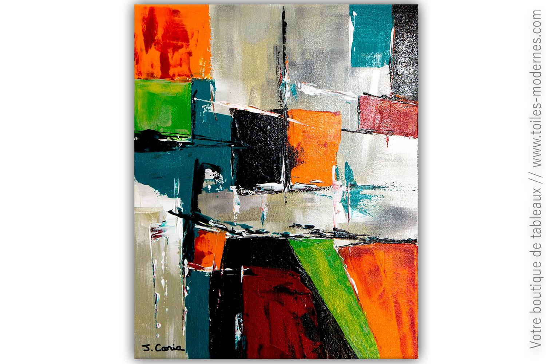 Peintures Modernes Colorées tableau multicolore moderne : un royaume coloré