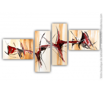 Tableau marron abstrait : Bonheur simple