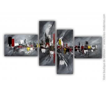 Tableau gris quadriptyque : Nouvelle adaptation