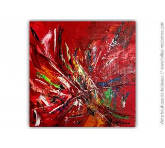 Tableau rouge moderne : Le pouvoir secret des couleurs