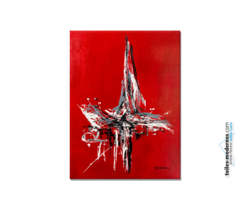 Tableau marine rouge moderne : Ancrage