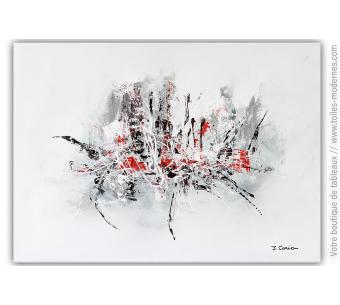 Déco blanche et grise design : Tableau Obsession