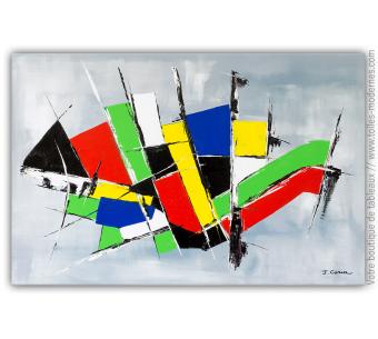 Grand tableau moderne : Un programme tout en couleurs