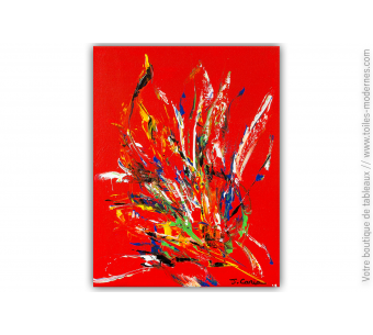 Tableau rouge abstrait : Inspiration colorée