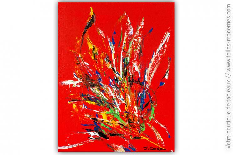 Objet déco rouge : tableau Inspiration colorée