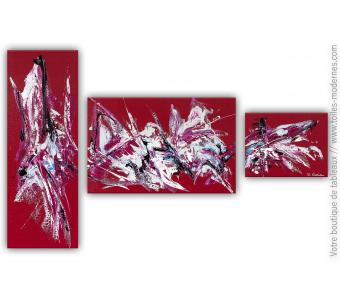 Déco bordeaux avec un tableau moderne : Enthousiasme