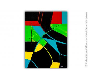 Tableau design noir : Une soirée animée