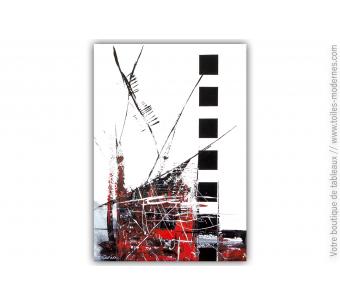 Tableau blanc et noir : Une ville immortelle